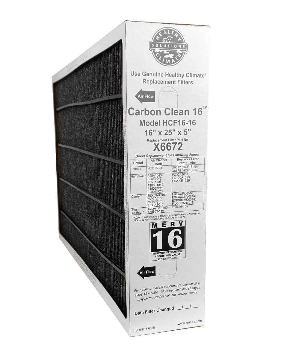 16X25x5 4 Carbon Air Filter Furnace Merv 12 11 13 Honeywell X6670 2 Pack