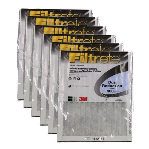 "3M Filtrete Dust Reduction Filter (6-Pack) - 16"" x 20"" x 1"" - MFG #300DC-6"