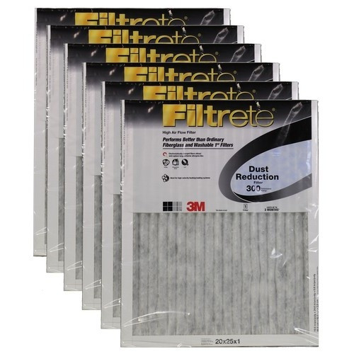 "3M Filtrete Dust Reduction Filter (6-Pack) - 20"" x 25"" x 1"" - MFG #303DC-6"