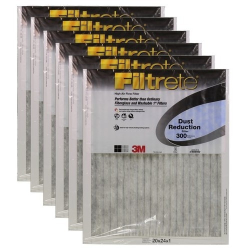 "3M Filtrete Dust Reduction Filter (6-Pack) - 20"" x 24"" x 1"" - MFG #326DC-6"