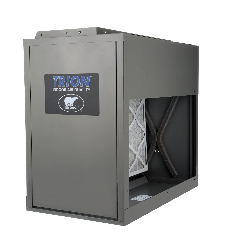 Trion 266380-011 - Air Bear Right Angle-HD Media Air Cleaner- MERV 8, Warm Grey