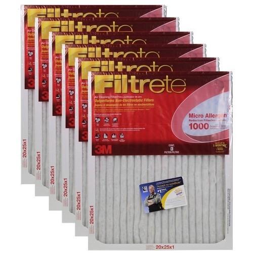Lowest Price 3m Filtrete Micro Allergen Filter 20 Quot X 25 Quot X 1 Quot