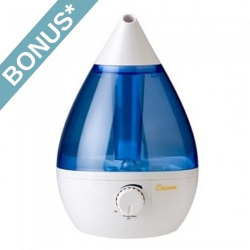Crane Blue/White Drop Shape Humidifier - EE-5301