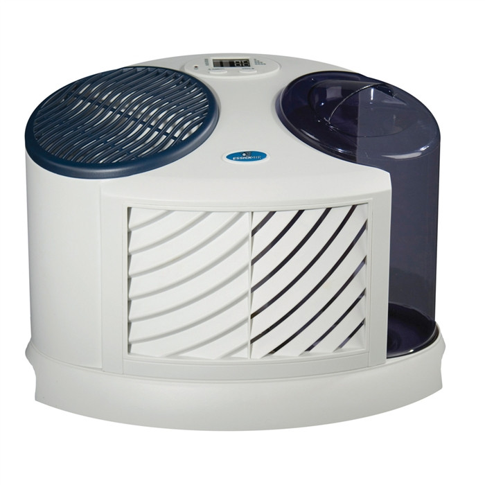Essick Air 7D6 100 Multi-Room and Single-Room Evaporative Humidifier (White and Midnight Blue Finish) - Tabletop