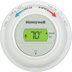 Honeywell Non-Programmable Digital Round Thermostat (1 Heat / 1 Cool)
