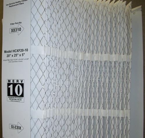 "Lennox X8310 - Healthy Climate HCXF20-10 MERV 10 Expandable Filter 20"" x 25"" x 5"""