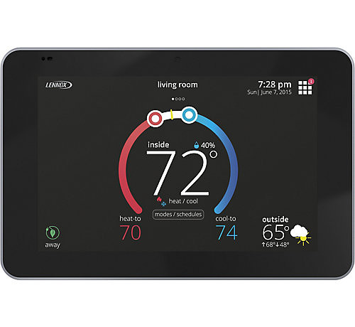 "Lennox 15S63 - iComfort E30 Universal Smart Programmable Thermostat, 7"" HD Color Display, Geo-Fencing, Remote Access, Alexa and Apple HomeKit Compatible"