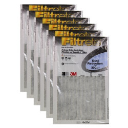 "3M Filtrete Dust Reduction Filter (6-Pack) - 16"" x 25"" x 1"" - MFG #301DC-6"