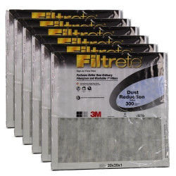 "3M Filtrete Dust Reduction Filter (6-Pack) - 20"" x 20"" x 1"" - MFG #302DC-6"