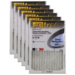 "3M Filtrete Dust Reduction Filter (6-Pack) - 14"" x 20"" x 1"" - MFG #305DC-6"