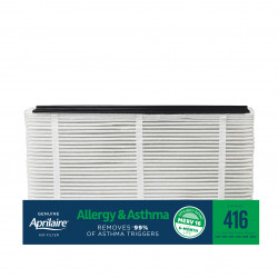 Aprilaire 416 Allergy & Asthma Air Filter Replacement for Whole-Home Air Purifiers, MERV 16