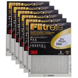 """3M Filtrete Elite Allergen Filter (6-Pack) - 16"""" x 20"""" x 1"""" - MFG #EA00DC-6"""