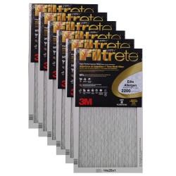 """3M Filtrete Elite Allergen Filter (6-Pack) - 14"""" x 25"""" x 1"""" - MFG #EA04DC-6"""