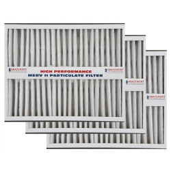 """Abatement Technologies H105-3 (Three Pack) Replacement Filters for CAP100-U (white color) 20"""" x 25"""" x 5"""""""