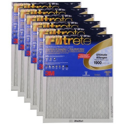 "3M Filtrete Ultimate Allergen Filter (6-Pack) - 20"" x 25"" x 1"" - MFG #UA03DC-6"