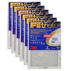 "3M Filtrete Ultimate Allergen Filter (6-Pack) - 14"" x 20"" x 1"" - MFG #UA05DC-6"