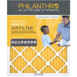 Philanthro 16x25x1 MERV 11 Furnace Filter